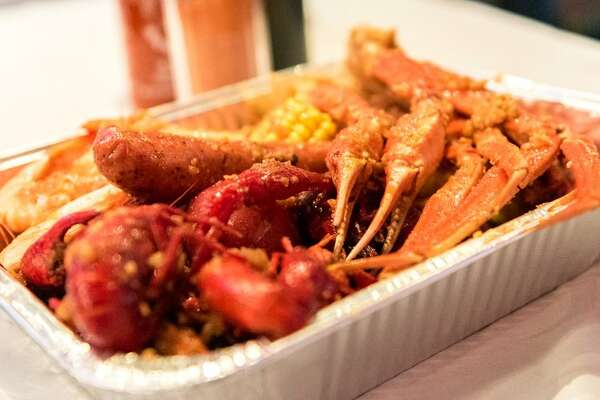 LA Crawfish  North Shore - 5810 E. Sam Houston Parkway 281-416-5352  See the menu  Photo:  Yelp/LA Crawfish