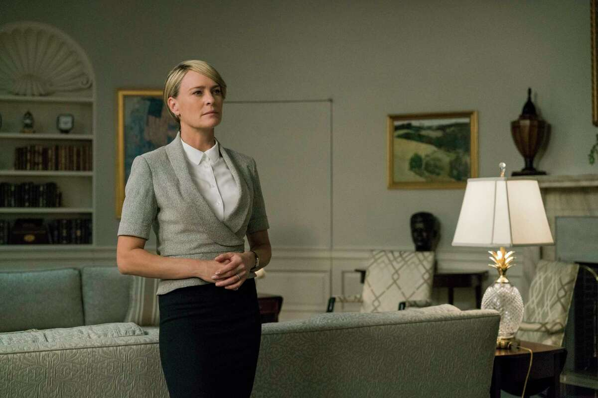 HOUSE OF CARDS Netflix's political drama was already set to end after this sixth season when the sexual misconduct scandal blew up around Kevin Spacey. In the wake of the controversy, the series' writers rewrote the final season to make Claire (Robin Wright) the focus. The final season will stream sometime this year. (Netflix)