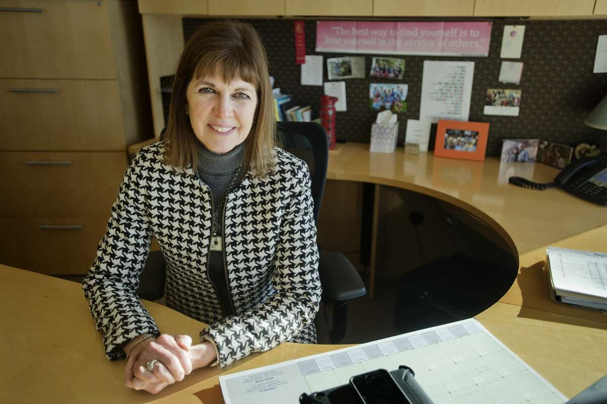 Sharon Mortensen, president of the Midland Area Community Foundation, hopes to make sure the foundation's work coordinates with what's happening in the community, and country as a whole. (Katy Kildee/kkildee@mdn.net)