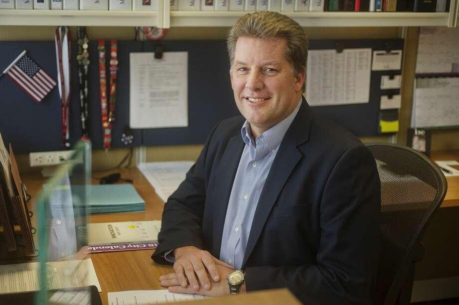 FILKE — City Manager Brad Kaye. (Katy Kildee/kkildee@mdn.net) Photo: (Katy Kildee/kkildee@mdn.net)