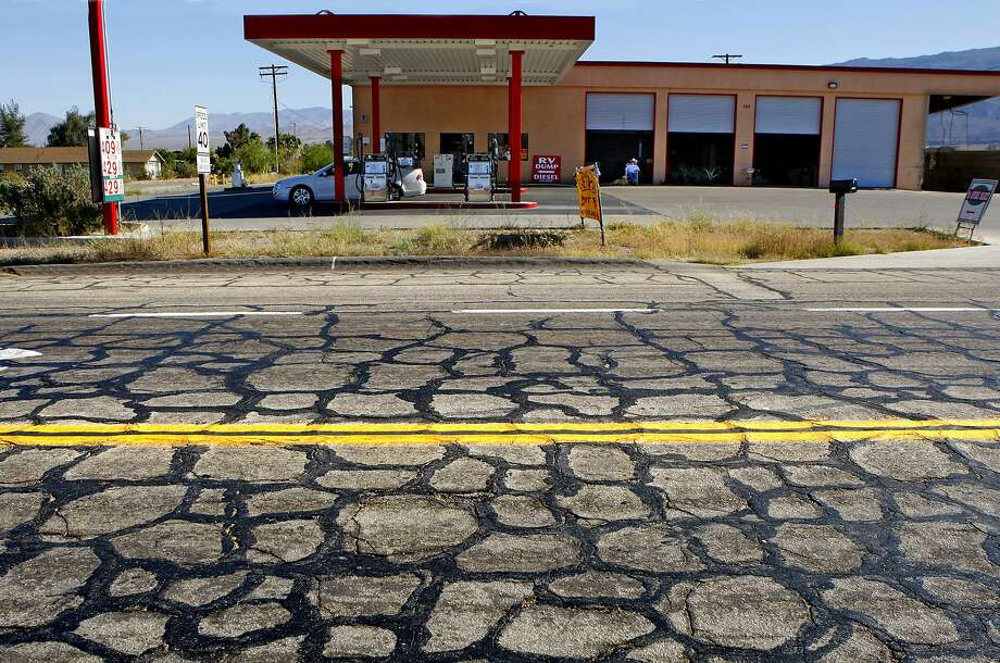 Bustling Borrego Springs, in San Diego County. Photo: DON BARTLETTI, TPN