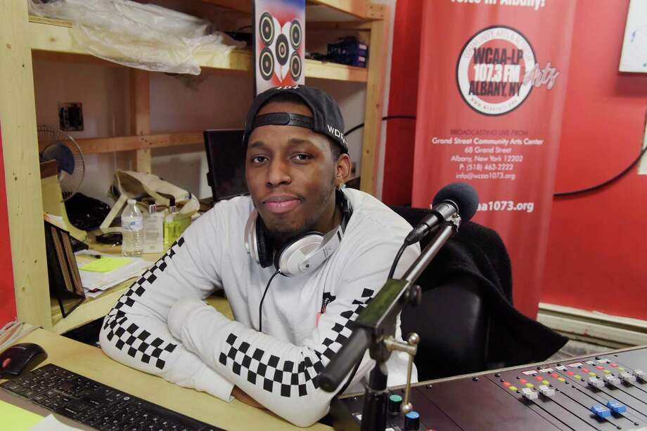 Craig Earle, program director/operations manager at 107.3 FM (WCAA-LP) radio station, works in the station's studio inside the Grand Street Community Arts building on Wednesday, Jan. 3, 2018, in Albany, N.Y.  Earle hope to cultivate the arts scene in Albany and to foster conversations between the general community and the arts community.  (Paul Buckowski / Times Union) Photo: PAUL BUCKOWSKI / 20042546A