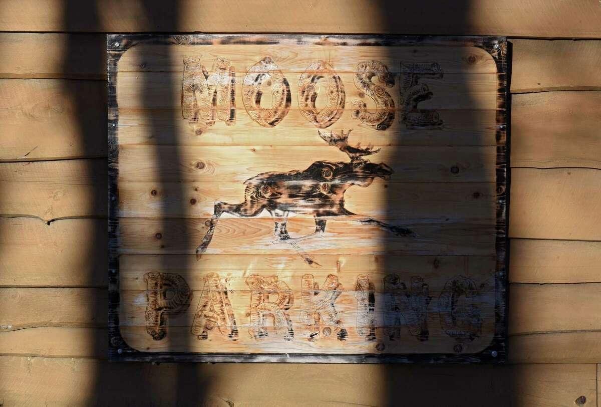 Sign outside the Tipsy Moose on Wednesday, Jan. 3, 2018 in Latham, N.Y. (Lori Van Buren / Times Union)