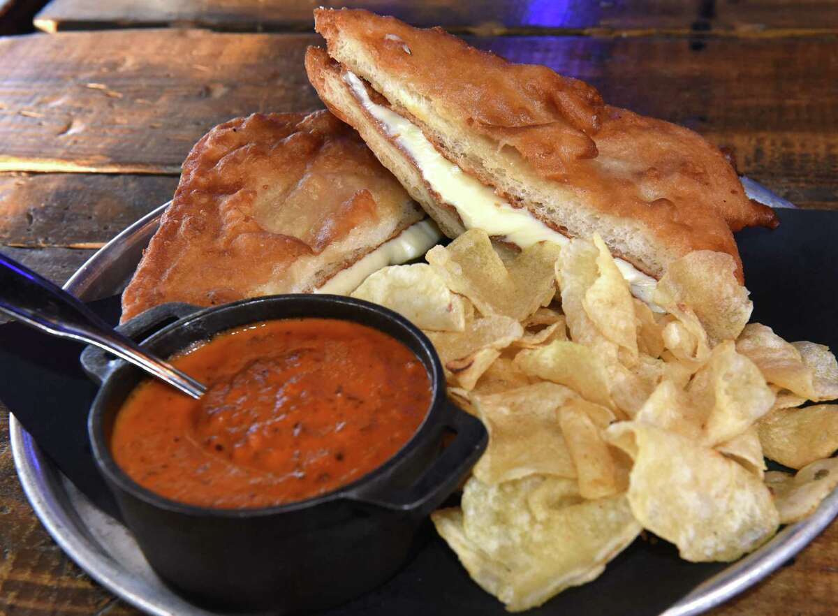 Tipsy Moose, 185 Old Loudon Road, Latham and 62 Vandenburgh Ave., Troy The sourdough beer-battered grilled cheese sandwich is served with a cup of tomato bisque. Here's the menu.