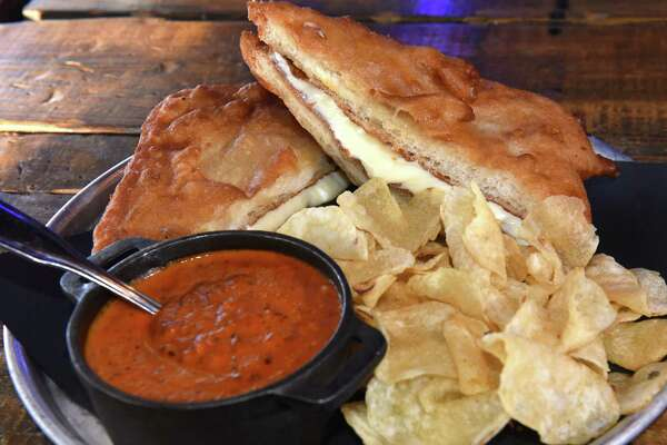 Sourdough beer-battered grilled cheese sandwich at Tipsy Moose on Wednesday, Jan. 3, 2018 in Latham, N.Y. (Lori Van Buren / Times Union)