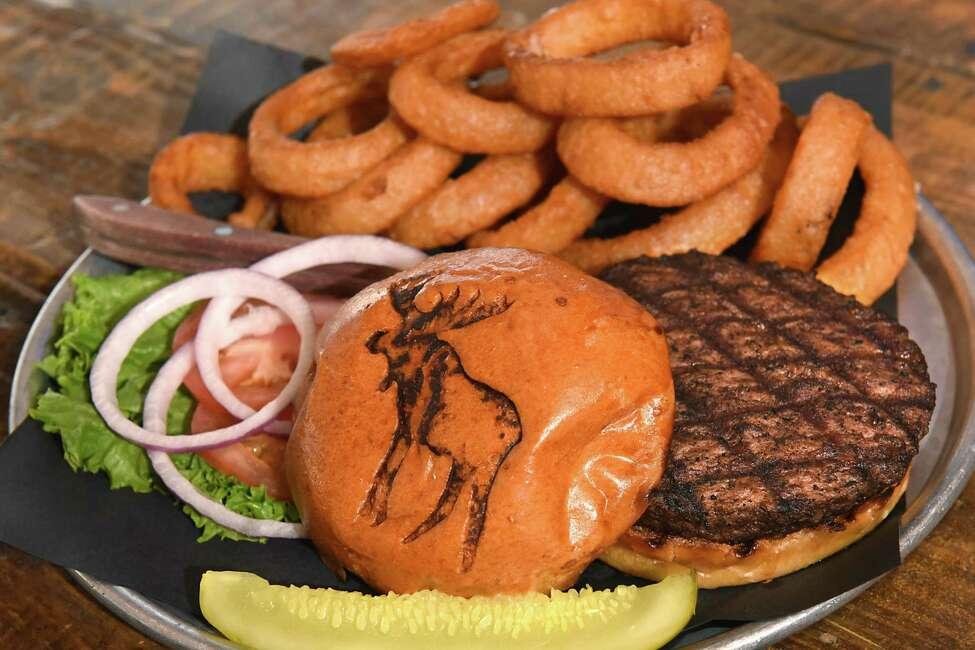 Classic Tavern Angus Burger at the Tipsy Moose on Wednesday, Jan. 3, 2018 in Latham, N.Y. (Lori Van Buren / Times Union)