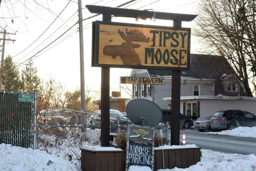 Sign in front of the Tipsy Moose on Wednesday, Jan. 3, 2018 in Latham, N.Y. (Lori Van Buren / Times Union)