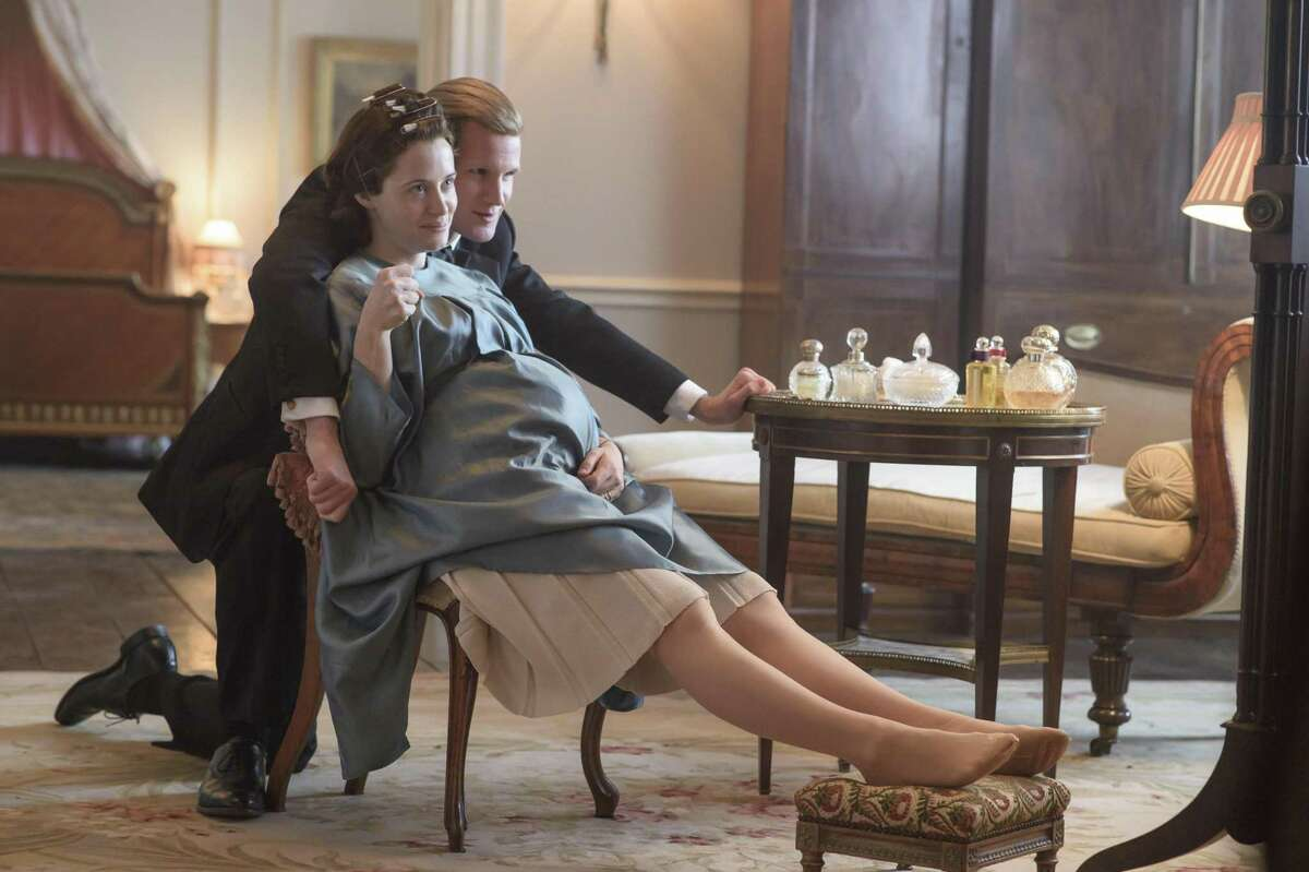 Prince Philip and Queen Elizabeth (Matt Smith and Claire Foy) share a private moment in season two of