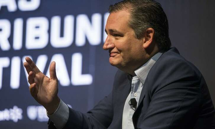 Texas Sen. Ted Cruz, shown here at a September 2017 Texas Tribune event, later made a Half True claim about changes in federal tax law (Nick Wagner, Austin American-Statesman).