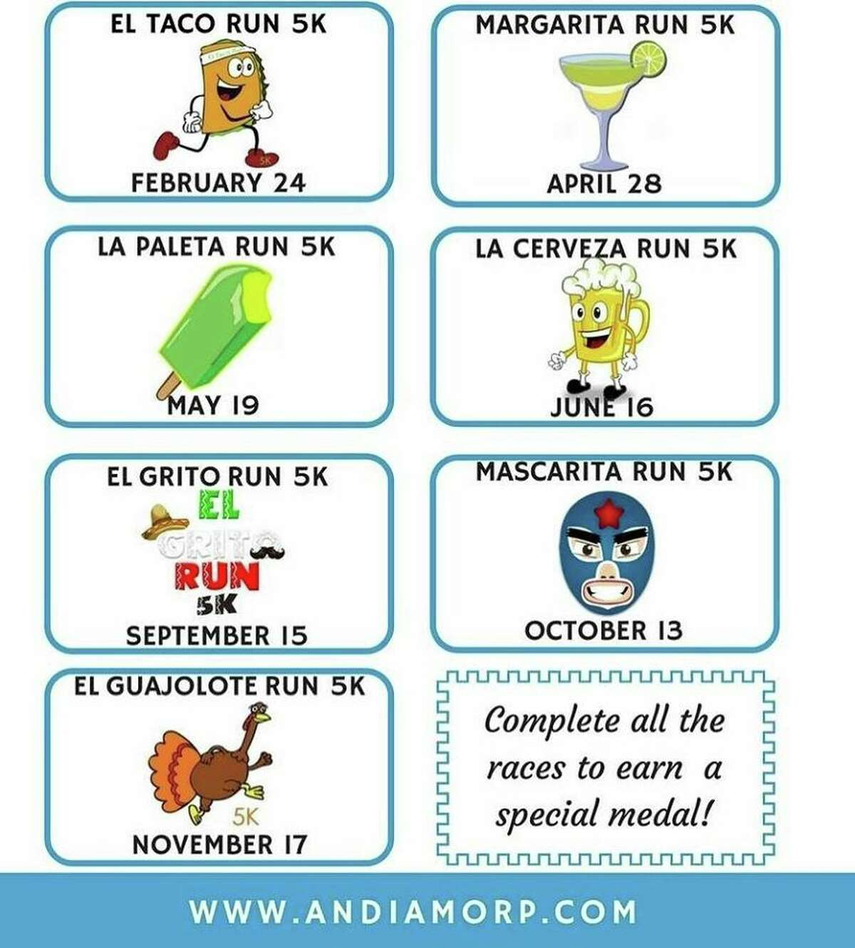 For $195, runners can participate in one race every month between February and November, each of which have a theme
