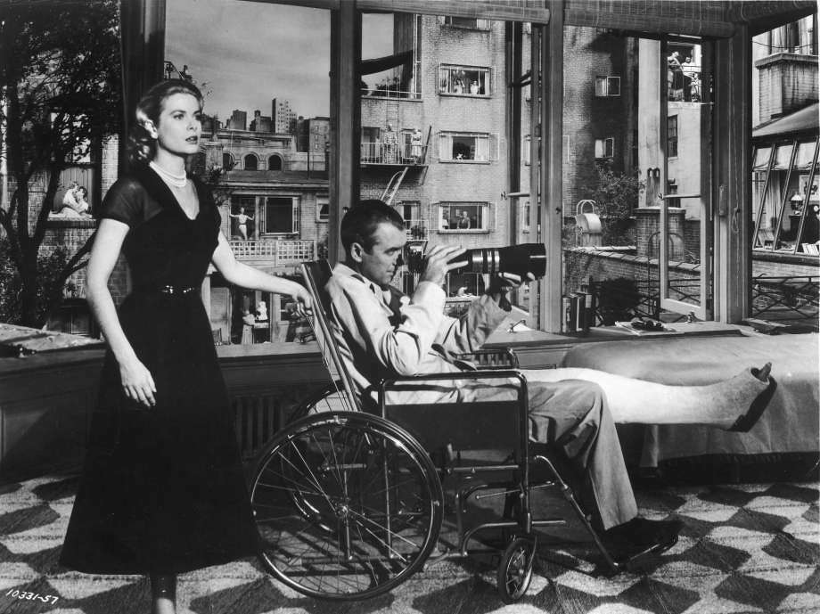 "Novelist A.J. Finn was inspired by the style, urgency and wit of Alfred Hitchcock in films such as ""Rear Window."" Photo: Paramount Pictures / Getty Images"