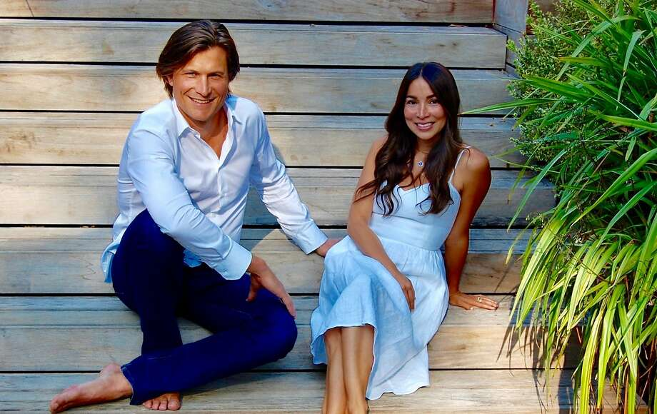 Claudia Mata, a former fashion editor, and husband Zander Gladish, a yogi and real estate executive, are the driving forces behind Vertly, a plant-infused line of lip balms and lotions with hemp oil. Photo: Courtesy Of Vertly