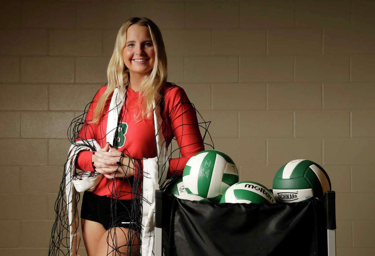 The Woodlands' Sophie Walls was named the Chronicle's All-Greater Houston Volleyball Player of the Year.(Michael Wyke / For the Chronicle) For the rest of the Chronicle's All-Greater Houston Volleyball Team, browse through the gallery.