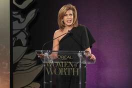 """Hoda Kotb speaks during the L'Oreal Paris Women of Worth Celebration 2017 on Dec. 6 in New York City. The new host of the """"Today"""" show — a woman older than 50 and the child of an immigrant — sets a new standard."""