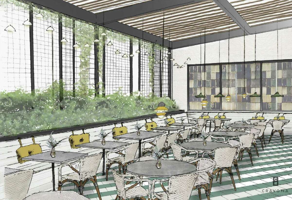 A rendering of the interior of The Maverick, a new restaurant scheduled to open in February at 710 S. St. Mary's St.