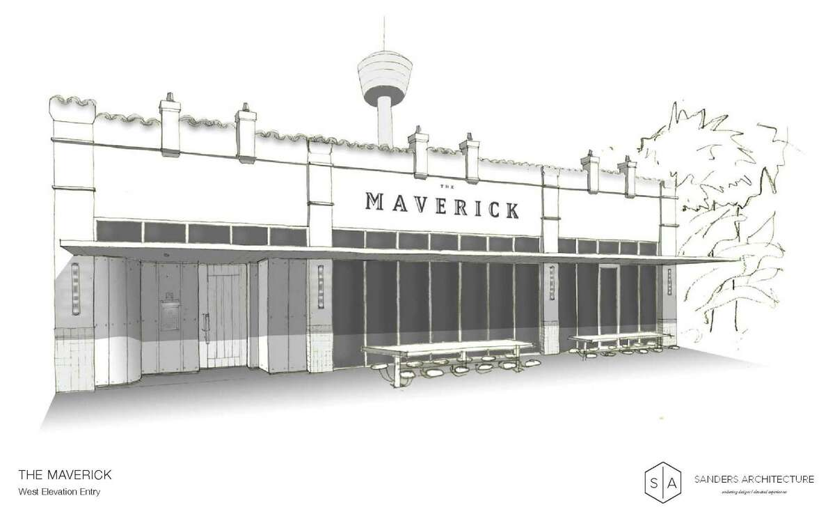 A rendering of The Maverick, a new restaurant scheduled to open in February at 710 S. St. Mary's St.