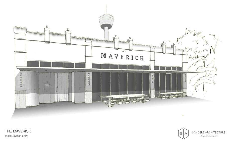 A rendering of The Maverick, a new restaurant scheduled to open in February at 710 S. St. Mary's St. Photo: Courtesy The Maverick