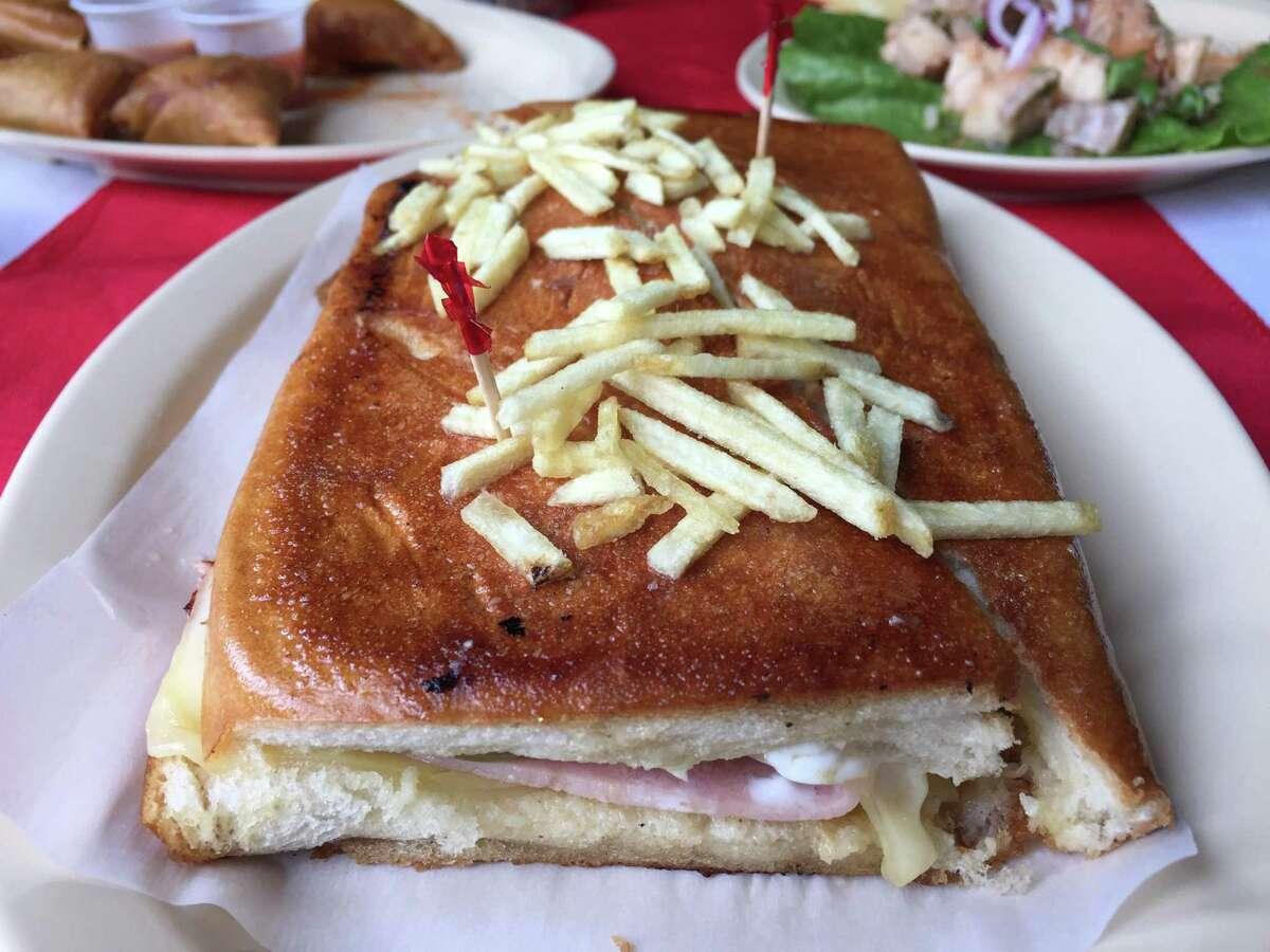 A Cuban sandwich at F&Y El Tropico Cuban Restaurant.
