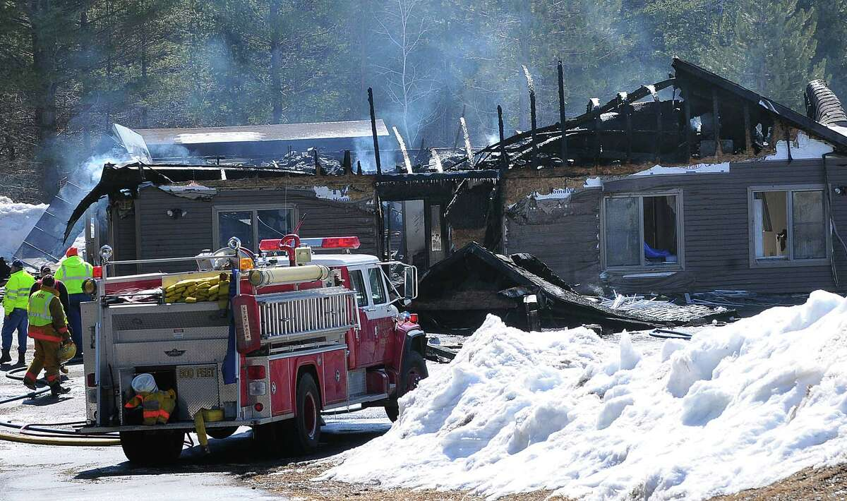 The fatal fire scene at the Riverview IRA group home in Wells, New York, Hamilton County, on March 21,2009. (Steve Jacobs / Times Union) 3 of 7 photos