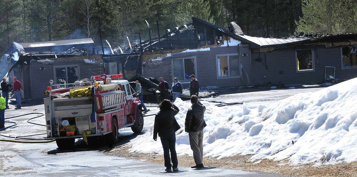 The fatal fire scene at the Riverview IRA group home in Wells, New York, Hamilton County, on March 21,2009. (Steve Jacobs / Times Union) 1 of 7 photos