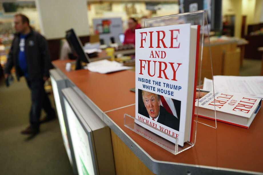 "Shoppers pass the last remaining copies of the book ""Fire and Fury: Inside the Trump White House"" by Michael Wolff at a Barnes & Noble store, Friday, Jan. 5, 2018, in Newport, Ky. Photo: John Minchillo /Associated Press / AP"