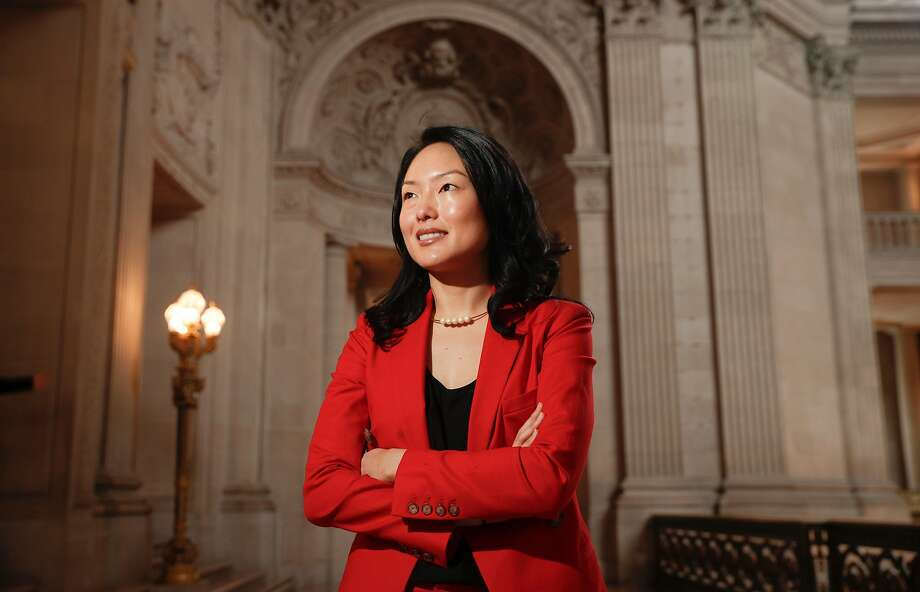 San Francisco Supervisor Jane Kim inside City Hall on Jan. 5 — she's now an official candidate for mayor in the June election. Photo: Michael Macor, The Chronicle
