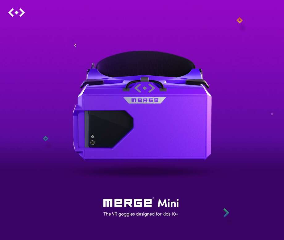 """Merge unveiled Sunday its Merge Mini """"a small, lightweight, marshmallow-soft VR/AR headset designed for kids ages 10 and up."""" The product is scheduled for Summer 2018. Photo: Courtesy Photo /"""