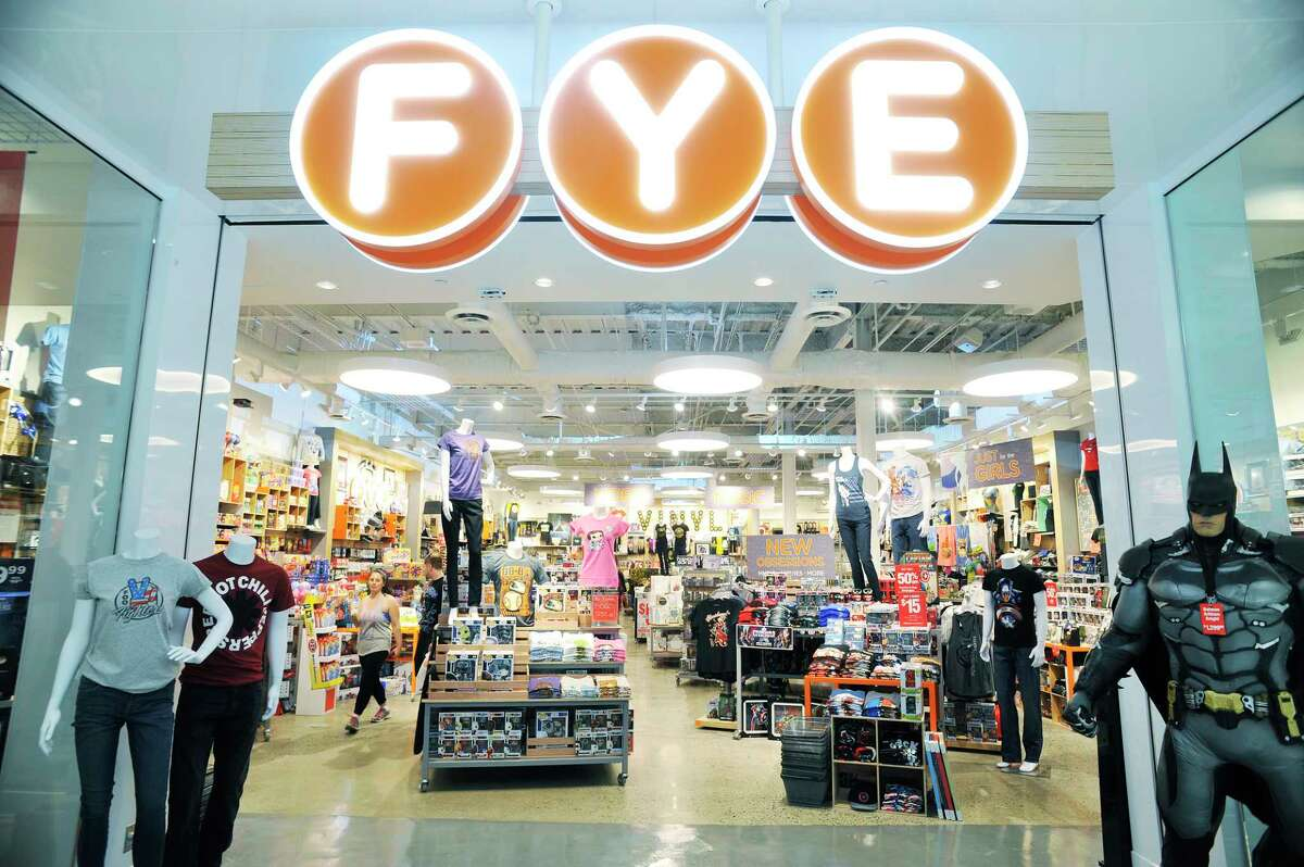 A view of the entrance and new sign at the FYE store inside Crossgates Mall on Thursday, May 19, 2016, in Guilderland, N.Y. (Paul Buckowski / Times Union)