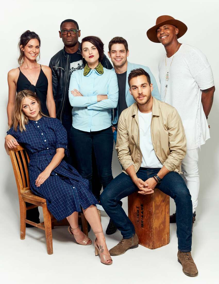 Supergirl (2015-present): This DC Comics live-action series features a diverse cast, strong on female and minority leads, and featuring lesbian and race-based story lines. (Top L-R) Odette Annable, David Harewood, Katie McGrath, Jeremy Jordan, and Mehcad Brooks, and (bottom L-R) Melissa Benoist and Chris Wood.