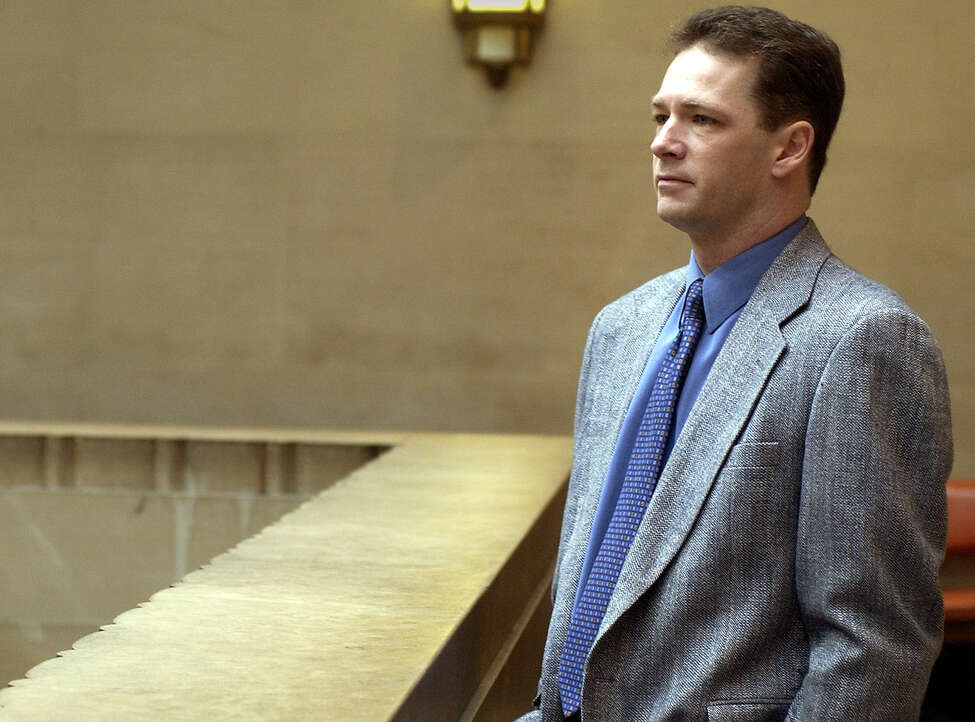 Michael Hands, a former Catholic priest, stands outside of a courtroom in Mineola, N.Y. Tuesday, April 23, 2002 where he will be sentenced to sexually abusing a teen-age boy in his rectory. (AP Photo/Ed Betz)