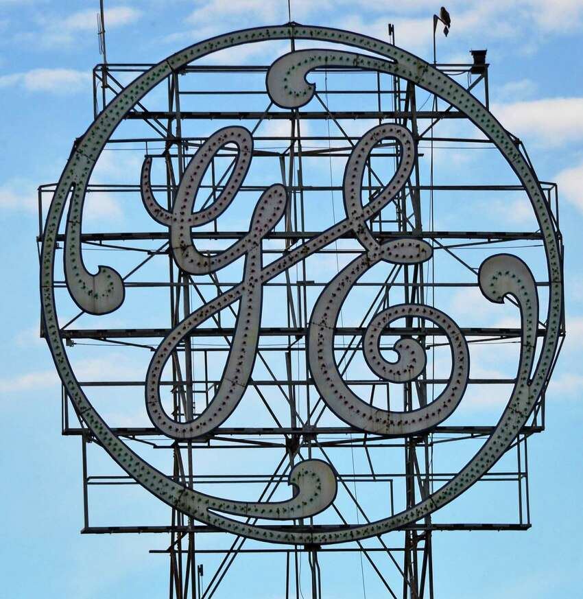 General Electric sign above their main plant Thursday Nov. 21, 2013, in Schenectady, NY. (John Carl D'Annibale / Times Union)