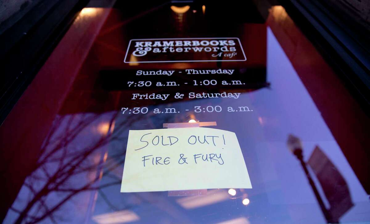 """Kramerbooks & Afterwords Cafe, in the Dupont Circle neighborhood in Washington, posted the status of its supply of """"Fire and Fury: Inside the Trump White House"""" on Friday."""