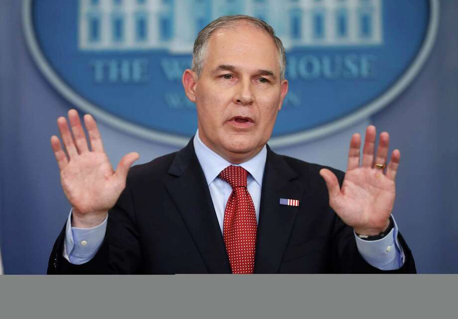 "The EPA said Administrator Scott Pruitt's initiatives had resulted in ""significant improvement."" Photo: Pablo Martinez Monsivais, STF / Copyright 2017 The Associated Press. All rights reserved."