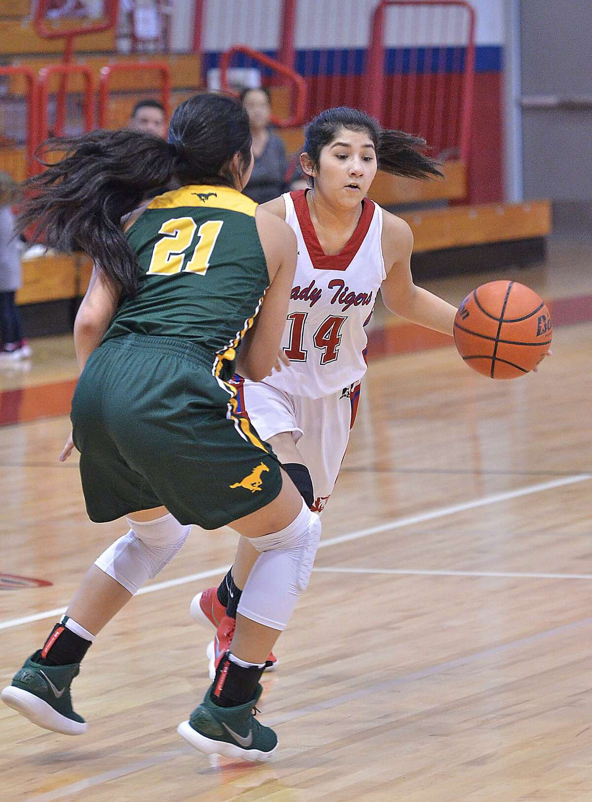 Karma Flores sank the final two free throws of Thursday night's game to clinch a 51-46 victory for Martin over Sharyland to take over fourth place in District 31-5A with five games to play.