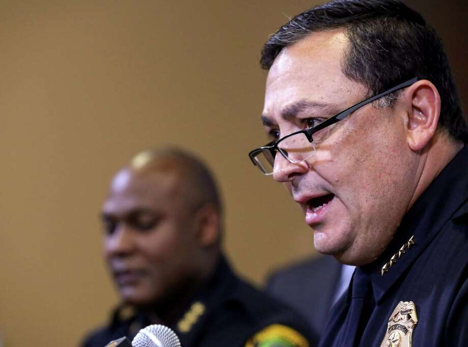 Police Chief Art Acevedo anticipates an intensified focus on gun and gang violence this year. That will include more data-driven police work, he said, as well as having more detectives working at night, when gang violence more often occurs. The city's murder total dropped 11 percent from 302 in 2016 to 269 in 2017. Photo: Jon Shapley, Staff Photographer / © 2017 Houston Chronicle