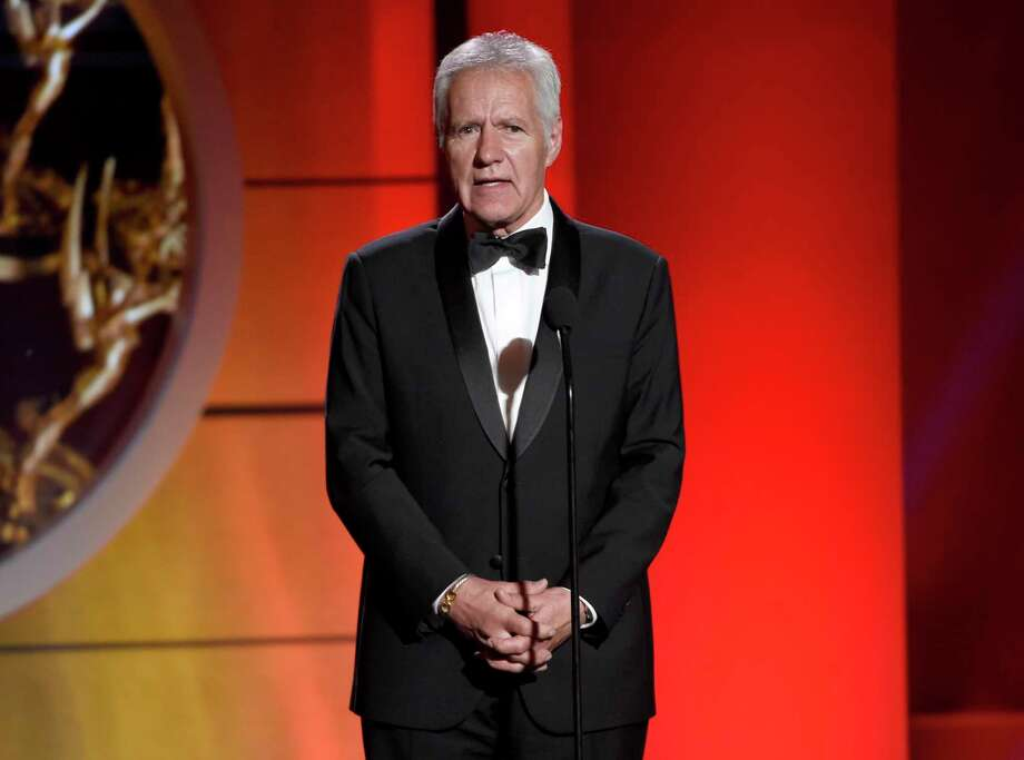 FILE - In this April 30, 2017 file photo, Alex Trebek speaks at the 44th annual Daytime Emmy Awards at the Pasadena Civic Center in Pasadena, Calif. Photo: Chris Pizzello / Invision