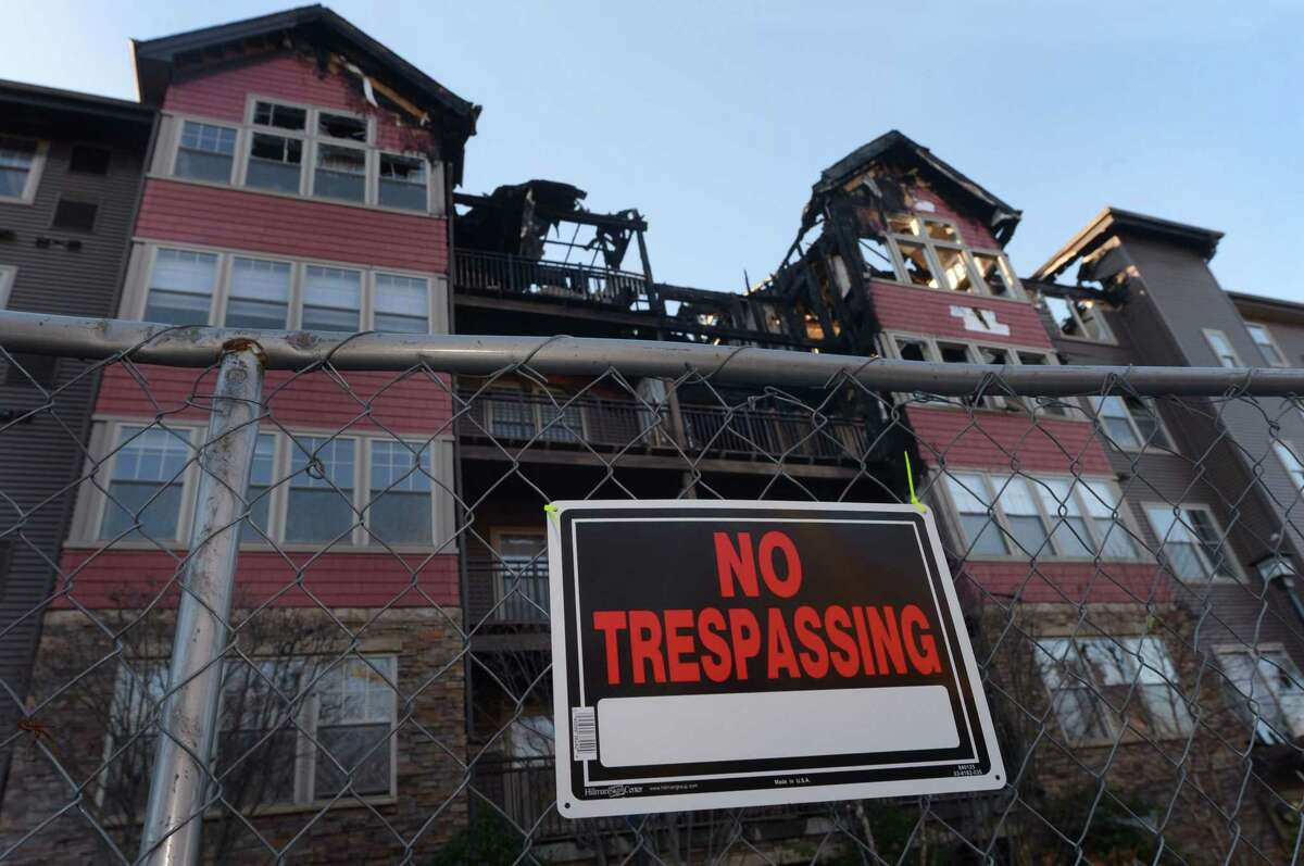 StoneWood Condominiums on Richard Avenue Thursday, Nov. 21, 2017, following the devastating fire there Dec. 11.