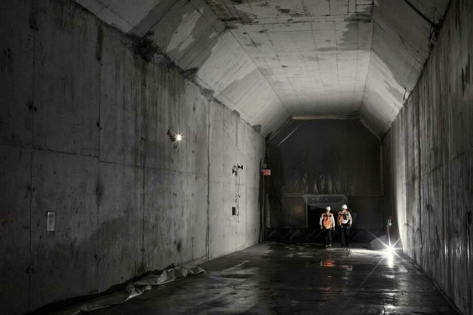 FILE -- A portion of a new rail tunnel under Manhattan that will cross the Hudson River to New Jersey, July 17, 2017. A letter from the acting administrator of the Federal Transit Administration said there is no agreement to fund the first phase of the $11 billion Gateway project, which is meant to improve rail service along the Northeast corridor. (Philip Montgomery/The New York Times) Photo: PHILIP MONTGOMERY / NYT / NYTNS
