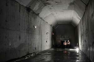 FILE -- A portion of a new rail tunnel under Manhattan that will cross the Hudson River to New Jersey, July 17, 2017. A letter from the acting administrator of the Federal Transit Administration said there is no agreement to fund the first phase of the $11 billion Gateway project, which is meant to improve rail service along the Northeast corridor. (Philip Montgomery/The New York Times)