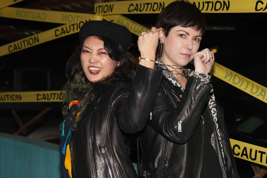 It was not exactly crime and punishment, but it was a bit naughty as partiers mixed it up at La Botanica Friday night, Jan. 5, 2018. Photo: Fabian Villa For MySA