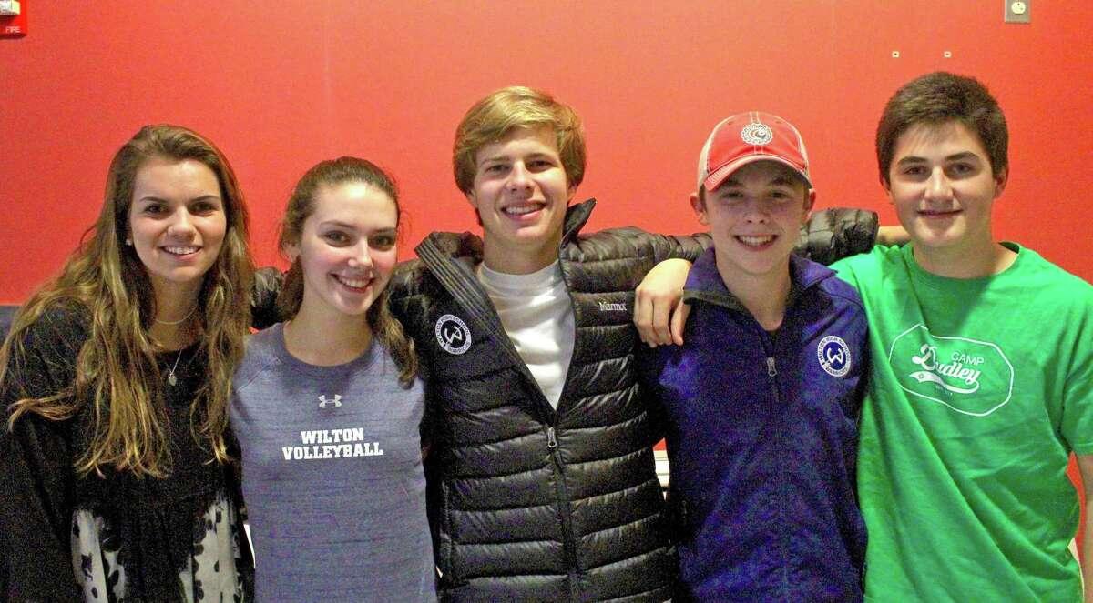 Wilton Ski captains are Katie Reid, Julia Bonnist, Michael Hueglin, Patrick Verrilli and August Theoharides