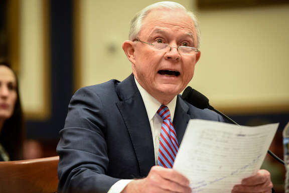 Attorney General Jeff Sessions, shown at a November hearing before the House Oversight Committee, has rescinded Obama-era directives that discouraged enforcement of federal marijuana laws in states that had legalized the pot for recreational and medicinal use.