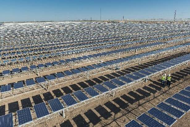 A solar plant owned by OCI Solar Power in Brackettville features more than 150,000 solar panels and sits on 600 acres of privately owned land.