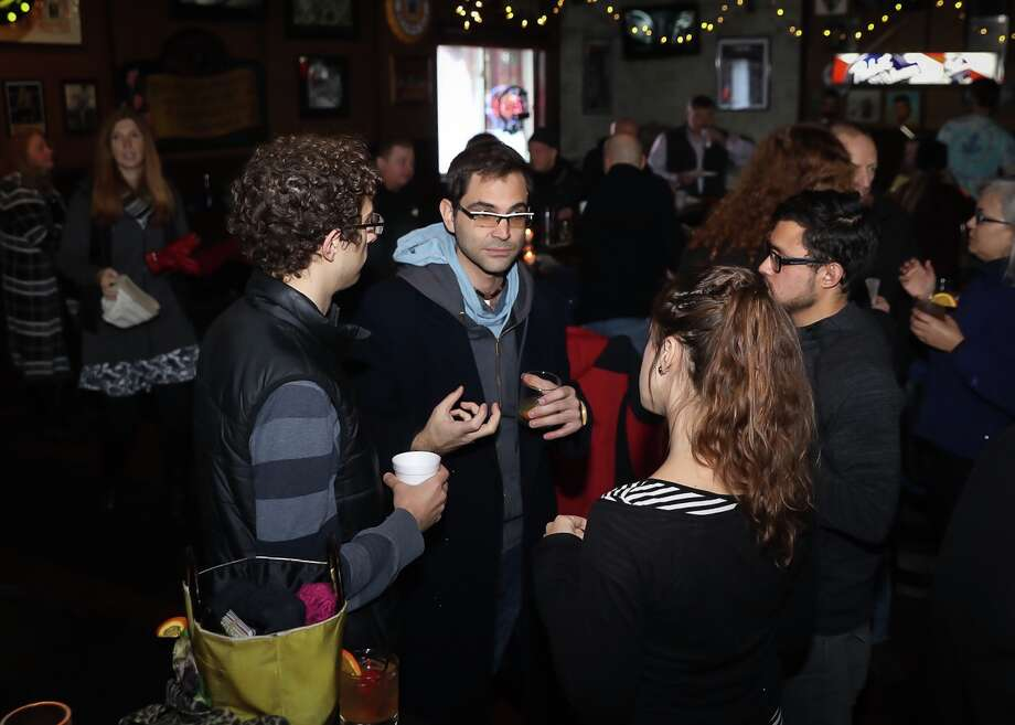 "Troy residents decided to ""keep"" the city's name as Troy at an event in the River Street Pub on Saturday, Jan. 6, 2018. (Photo by Eddie Quinn)"