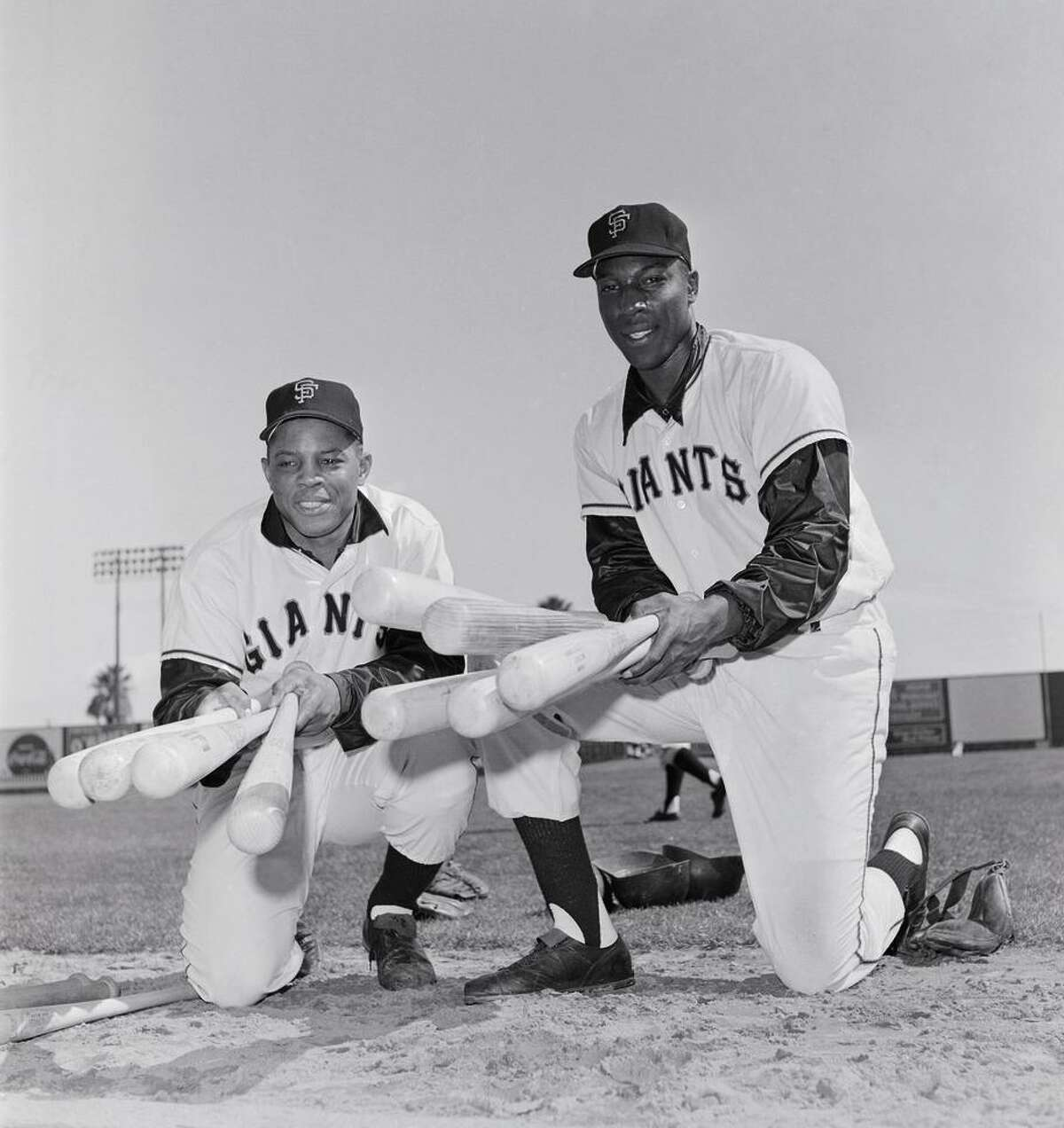 Willie Mays and McCovey in an undated photograph. They led the Giants to five second-place finishes to close the 1960s.