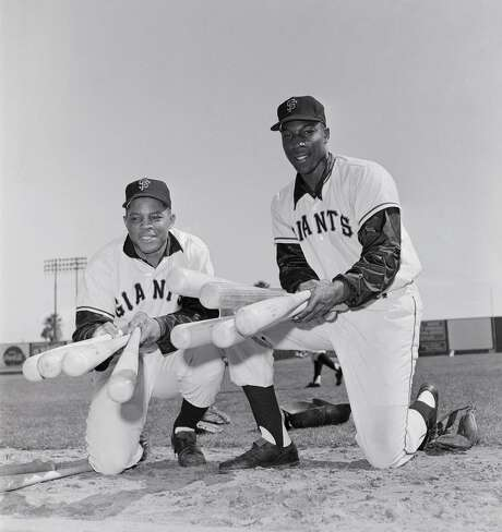 Willie Mays and McCovey in an undated photograph. They led the Giants to five second-place finishes to close the 1960s. Photo: Bettmann / Bettmann Archive / This content is subject to copyright.