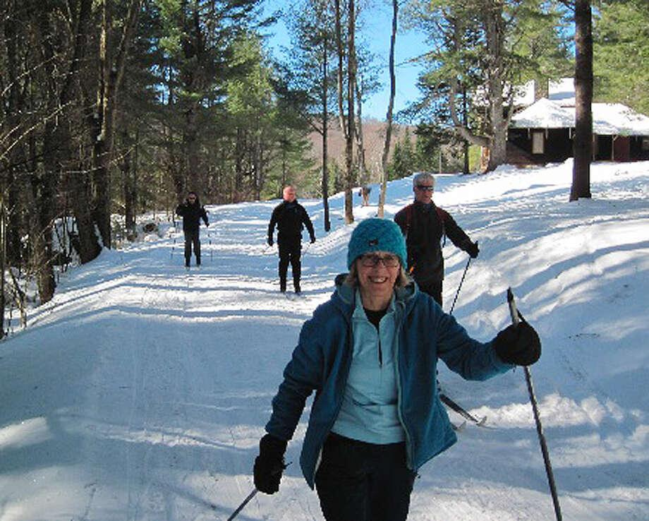 Visitors ski their way to Camp Santanoni in The Adirondacks, Monday Feb. 20, 2012. (Rick Karlin / Times Union) Photo: Tutu
