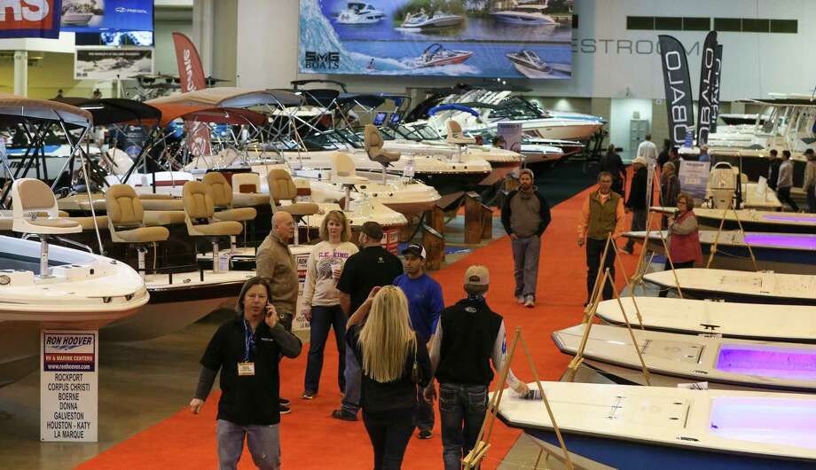 More than 1,000 boats are on display at the 63rd Houston Boat Show, which takes up the whole showroom floor at NRG Center. Photo: Yi-Chin Lee, Houston Chronicle / © 2018  Houston Chronicle