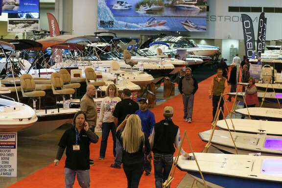 More than 1,000 boats are on display at the 63rd Houston Boat Show, which takes up the whole showroom floor at NRG Center.