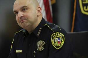 Bexar County Sheriff Javier Salazar answers questions regarding new revised training procedures for deputies at the Sheriffs Office and the deputy involved shooting that killed 6-year-old Kameron Prescott. Salazar met with a reporter on Tuesday, Jan. 2, 2018. (Kin Man Hui/San Antonio Express-News)